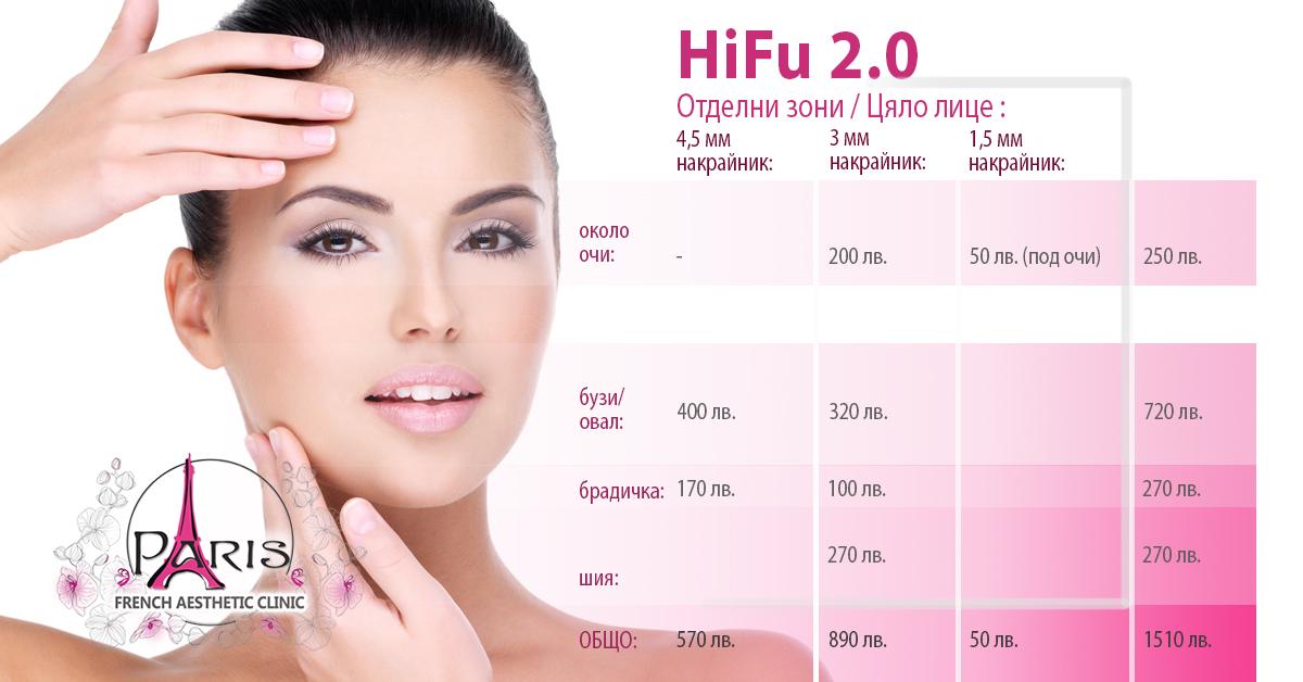 Нови цени HIFU нехиругичен лифтинг на лице и шия- Лазер Клиник Париж, гр. Варна